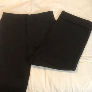 Gap high-rise, wide-leg crop. washed Never worn.